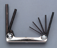 Folding Hex Key Set Series 700 (783-010/012)